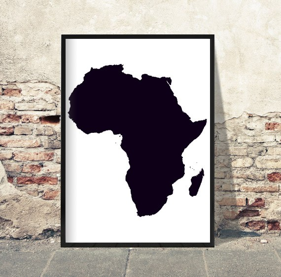 Afrika-hvid-baggrund